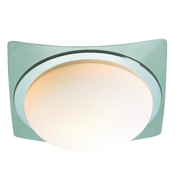 Kwadratowy plafon łazienkowy szklany Trosa - DOSTĘPNY OD RĘKI