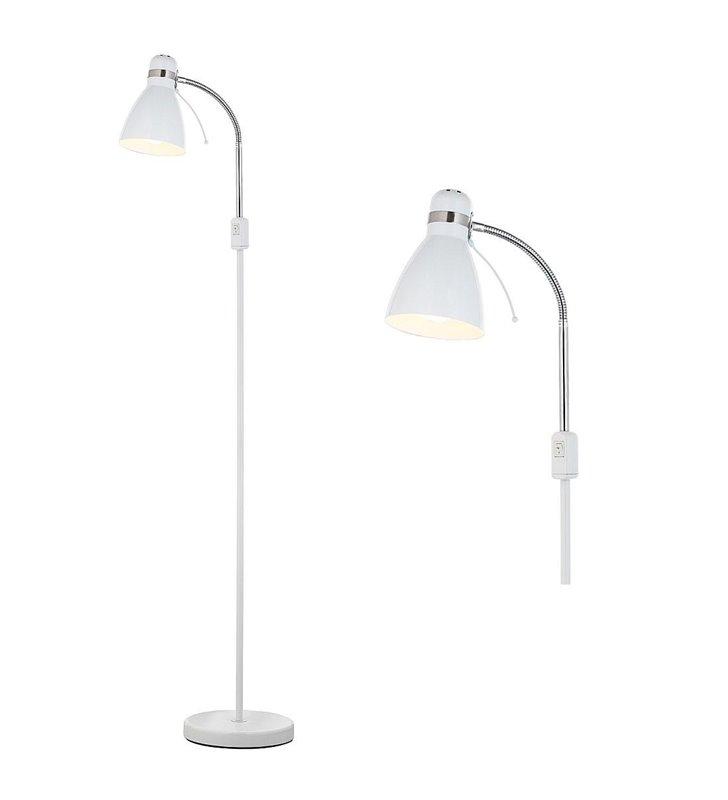 Biała lampa podłogowa Viktor