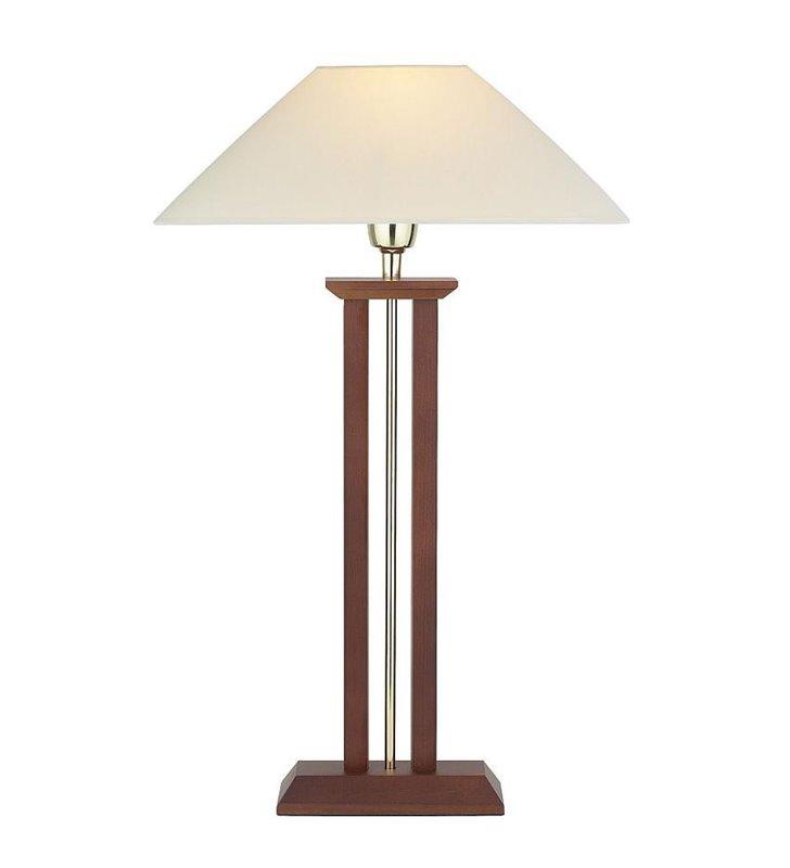 Lampa stołowa Millenium z drewnianą podstawą - DOSTĘPNA OD RĘKI