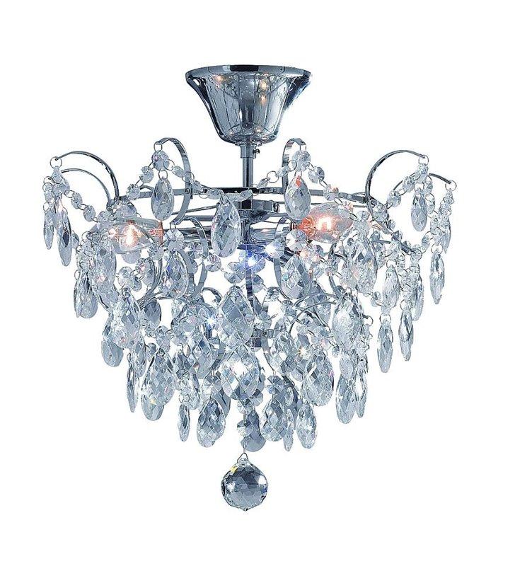 Lampa sufitowa kryształowa Rosendal - chrom
