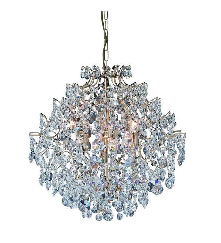 Żyrandol z kryształami Rosendal - złoty