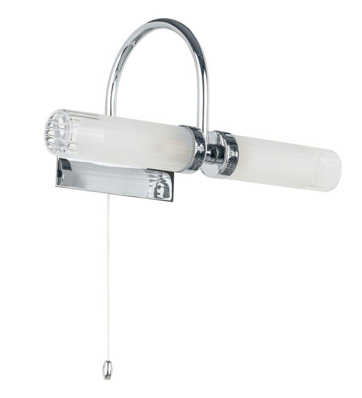 Kinkiet łazienkowy podwójny z włącznikiem Santos kolor chrom