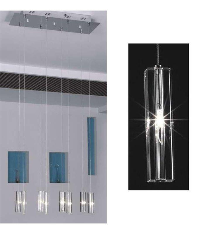 Lampa wisząca Sople kryształowe podłużne klosze