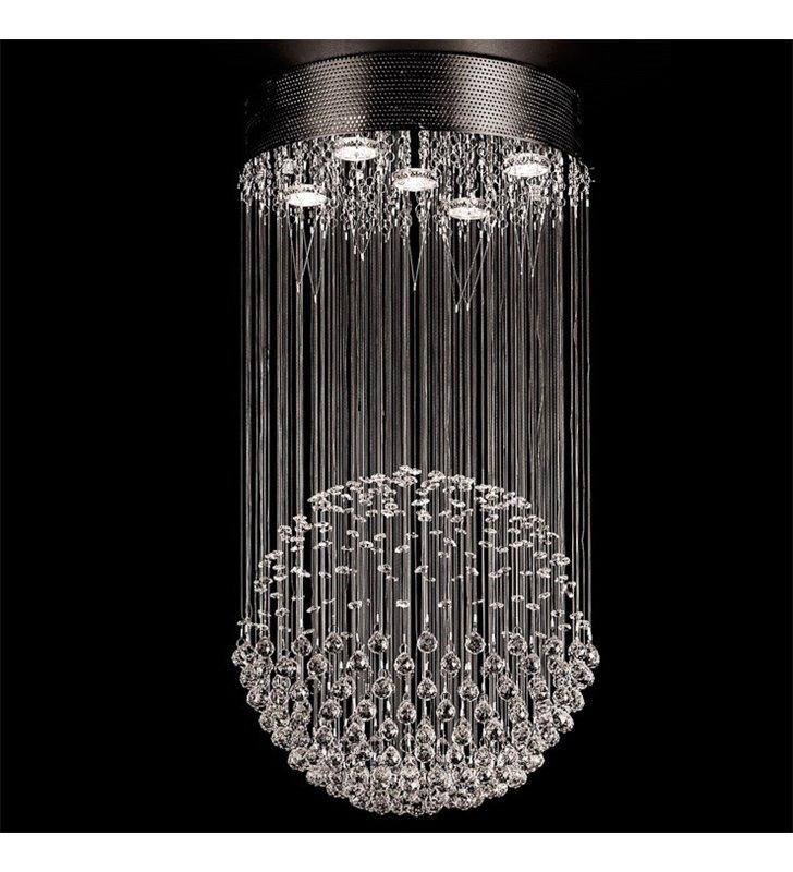 Kryształowa elegancka dekoracyjna lampa wisząca Lucid