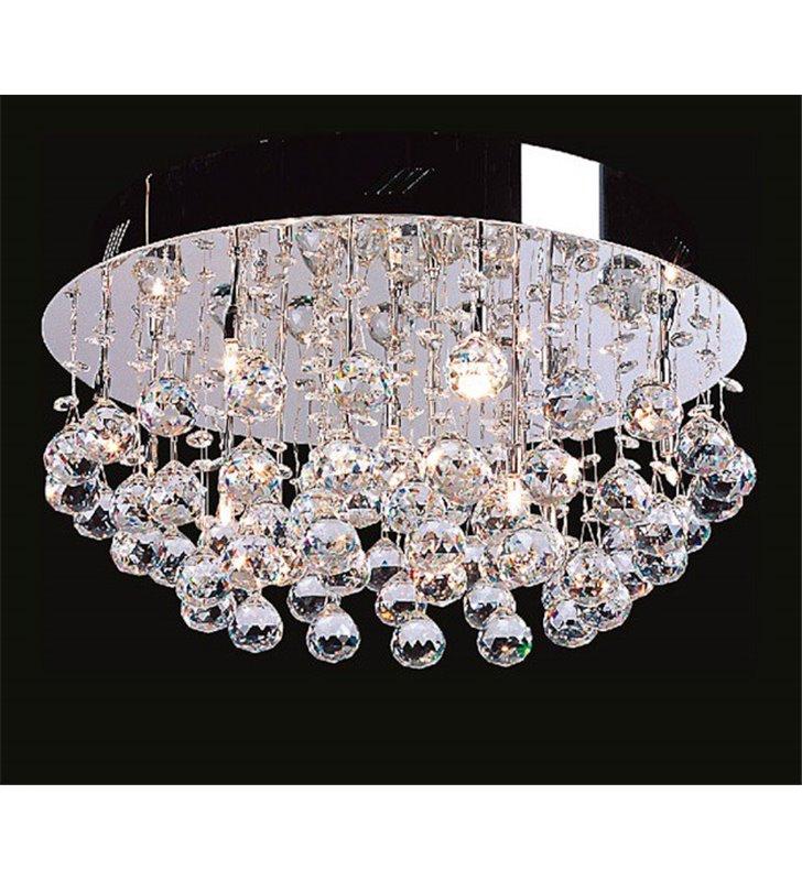 Plafon kryształowy Dribble 500 elegancki do salonu jadalni sypialni na korytarz
