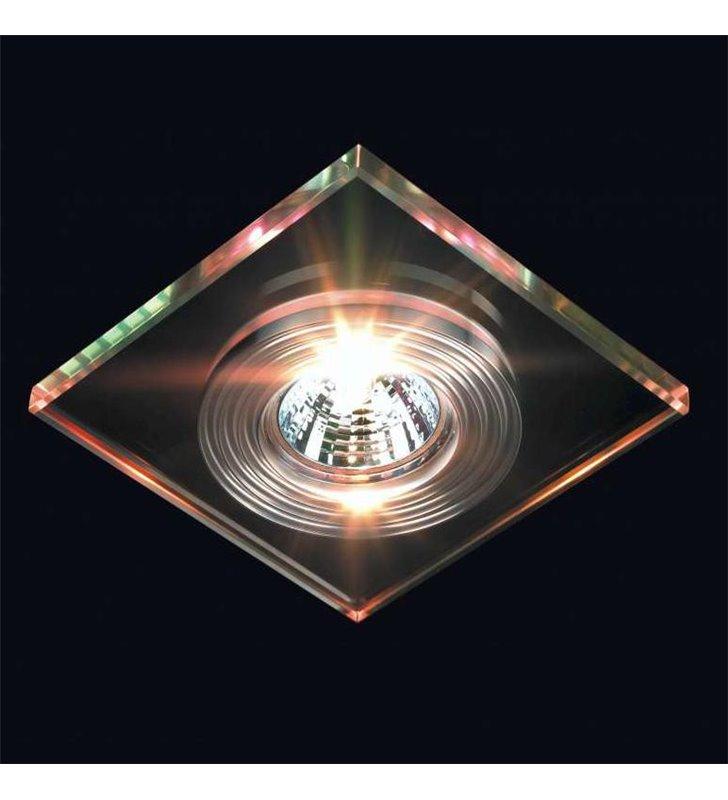 Oprawa punktowa kwadratowa szklana - DOSTĘPNA OD RĘKI