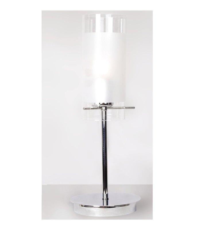 Lampa stołowa Blend chromowana podstawa ze szklanym kloszem