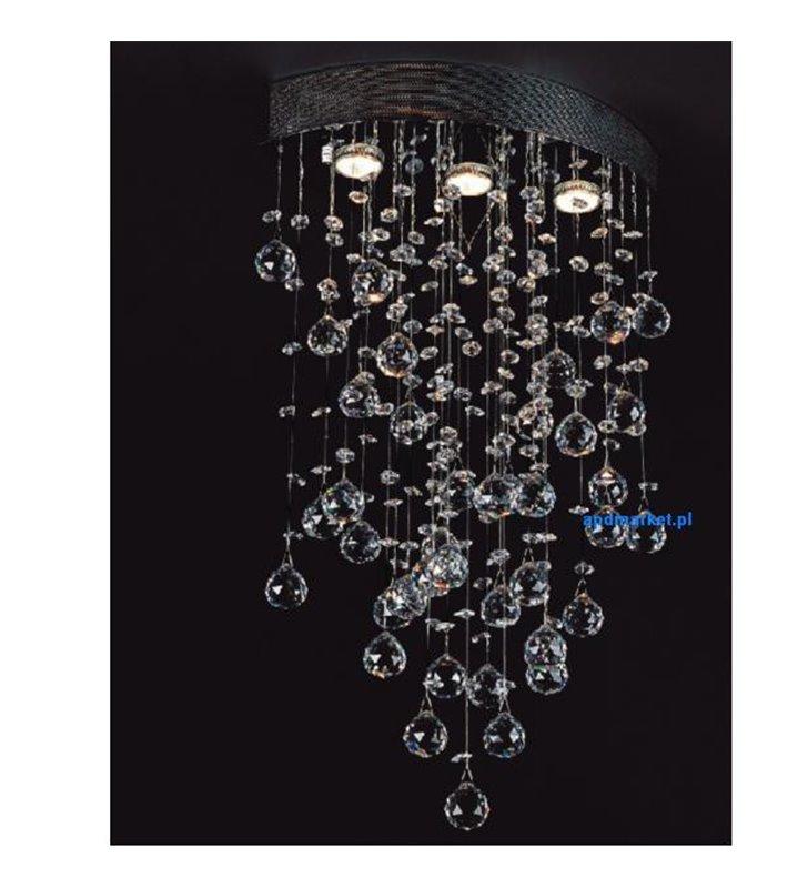 Kryształowa lampa wisząca Dribble podsufitka w kształcie migdała