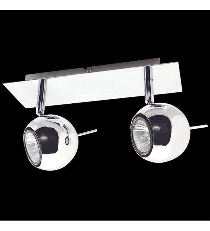 2 punktowa chromowana nowoczesna lampa sufitowa Hary