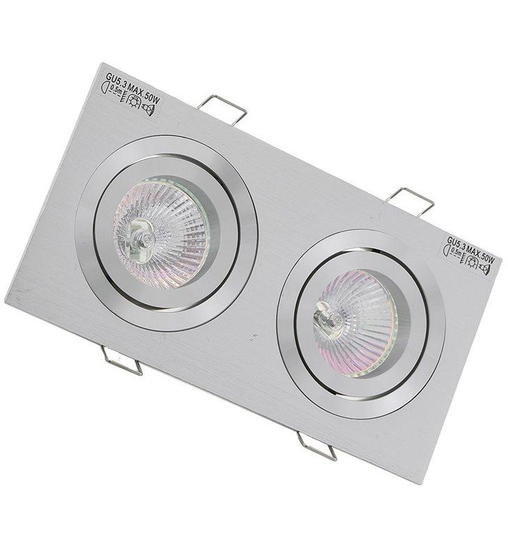 Oprawa punktowa MQ71805-2AB podwójna kolor aluminium 12V