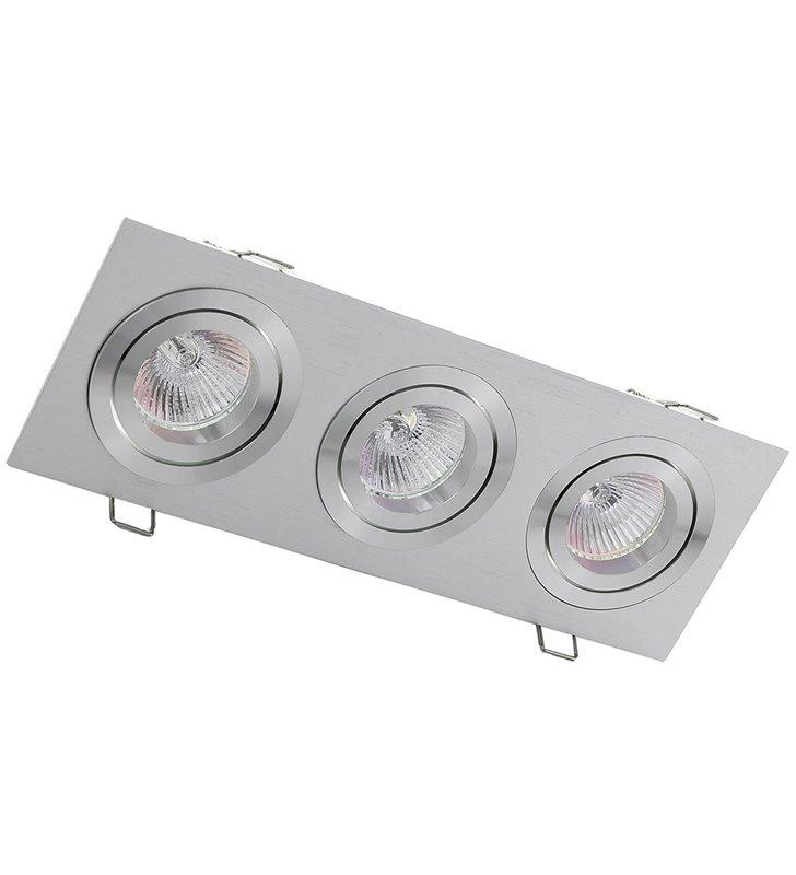 Oprawa punktowa MQ71805-3AB potrojna kolor aluminium