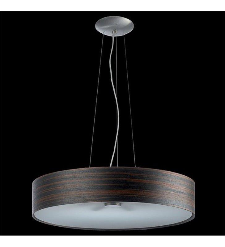 Lampa wisząca Kapri fornir heban jasny okrągła do salonu sypialni jadalni kuchni