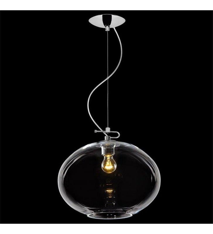 Lampa wisząca Donut klosz transparentny szklany pękaty do salonu sypialni jadalni nad stół