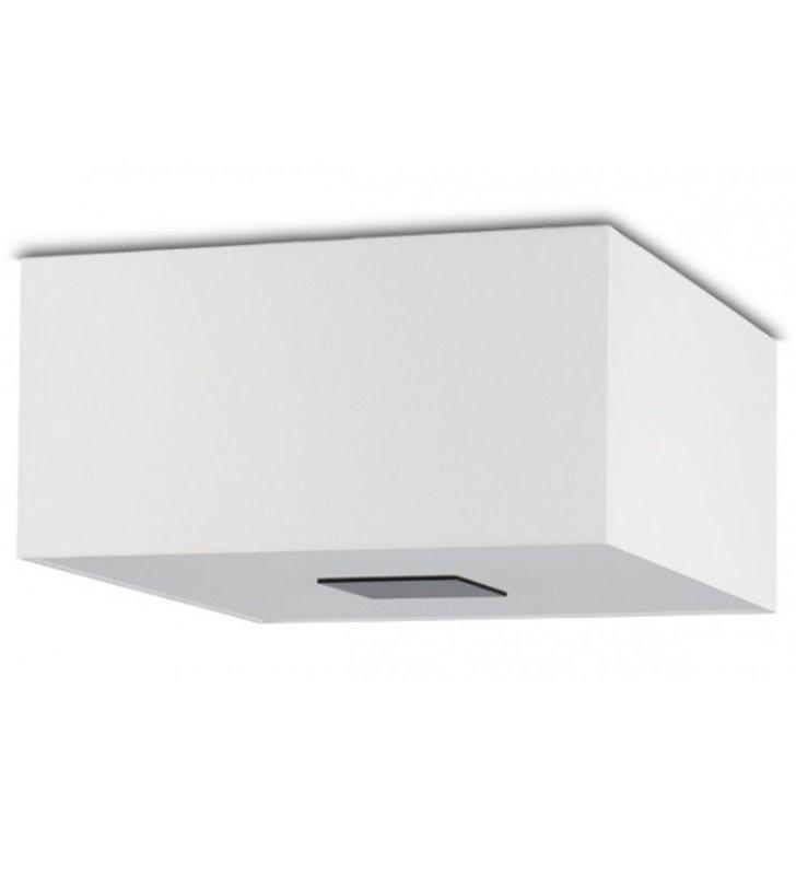 Plafon Vega 400 biały kwadratowy abażur do salonu sypialni jadalni przedpokoju