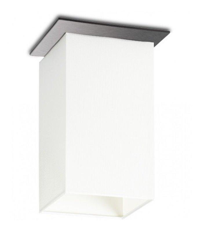 Lampa sufitowa Vega pojedyncza biały abażur