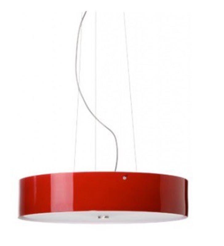 Lampa wisząca Lima klosz szklany bordo połysk