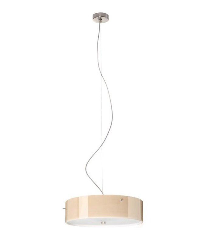 Lampa wisząca Lima Mini klosz szklany ecru połysk