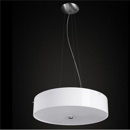 Lampa wisząca Lima Mini okrągła szklana opal mat