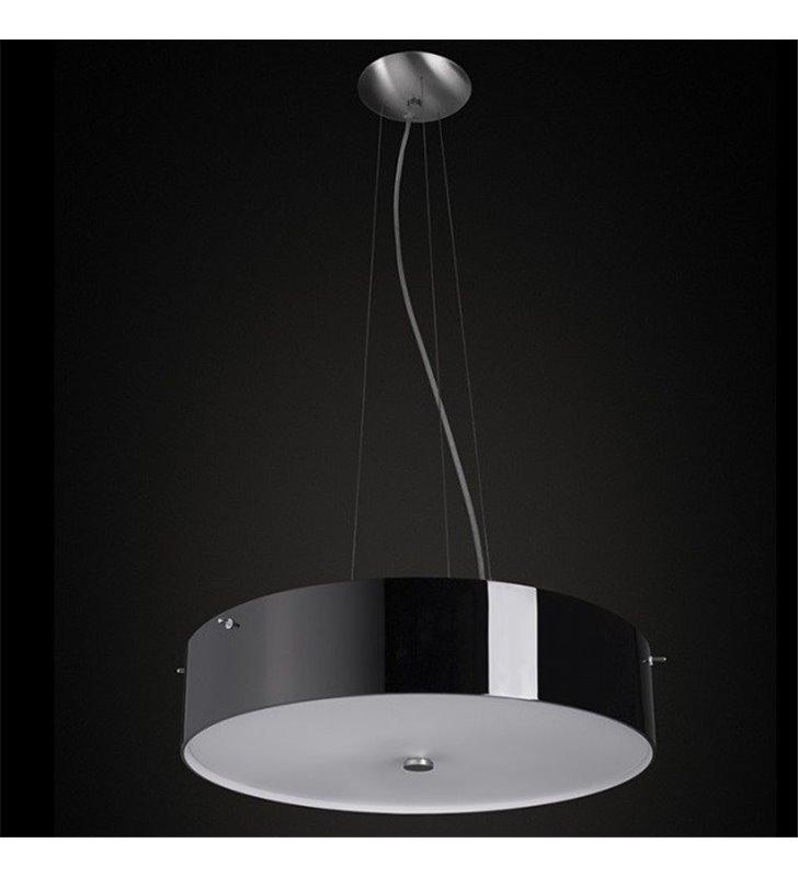 Lampa wisząca Lima Mini klosz szklany czarny błyszczący