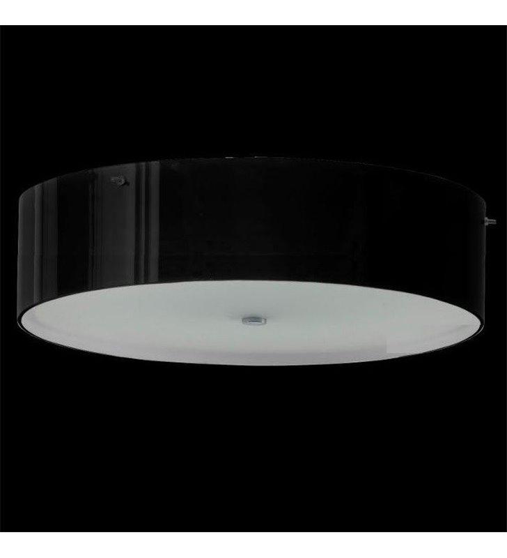 Plafon Lima Mini 300 okrągły szklany kolor czarny błyszczący