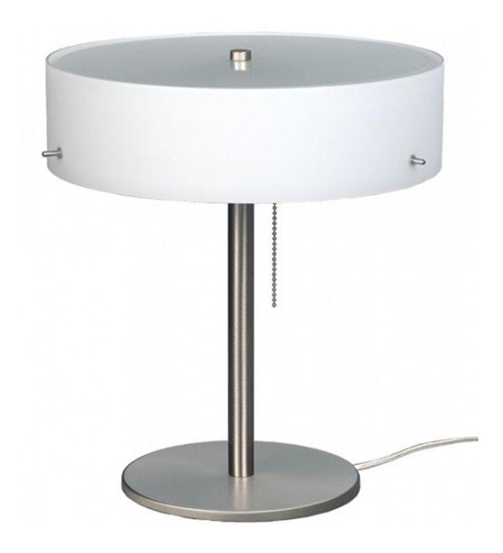Lampa stołowa Lima klosz szklany opal mat włącznik przy kloszu
