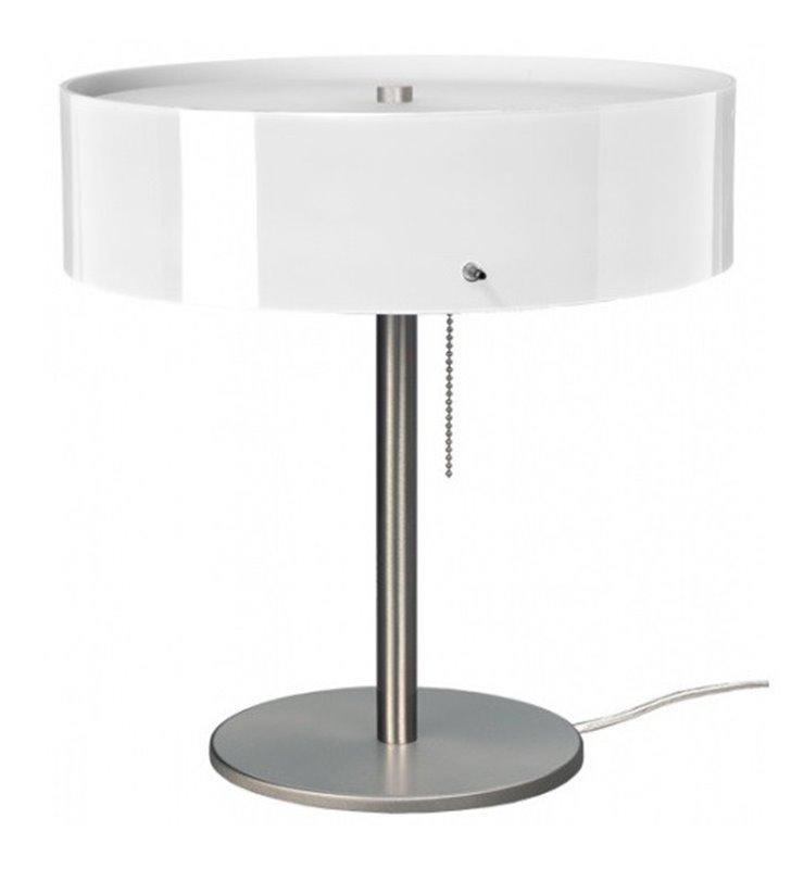 Lampa stołowa Lima szklany klosz opal błysk włącznik przy kloszu