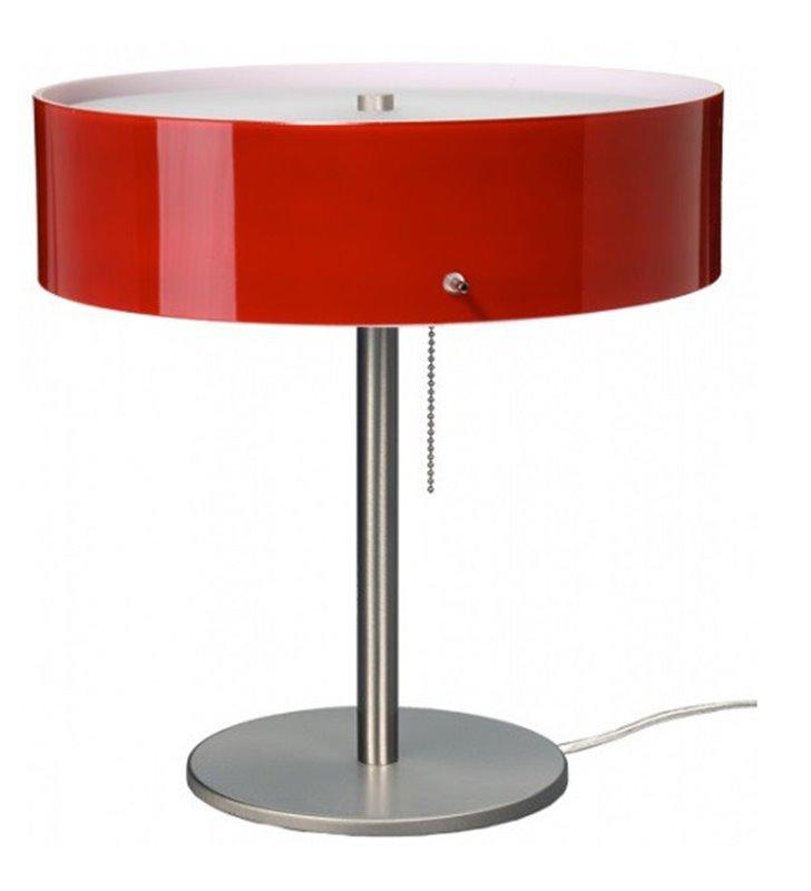 Lampa stołowa Lima klosz szklany bordowy błyszczący