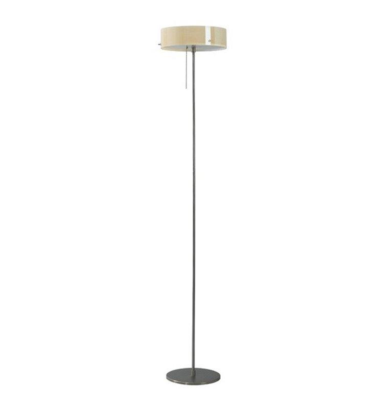 Lampa podłogowa Lima szklany okrągły klosz ecru błyszczący
