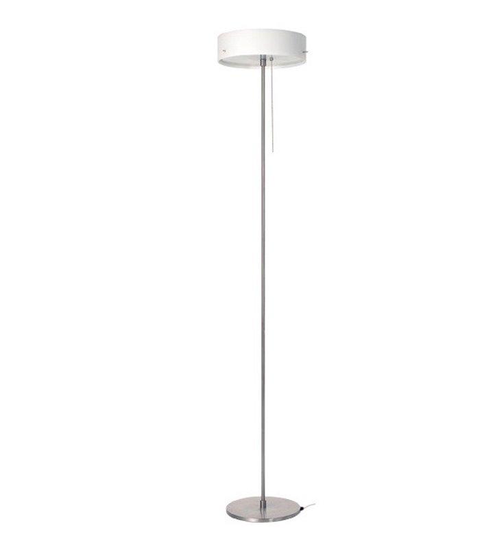 Lampa podłogowa Lima klosz szklany opal mat włącznik przy kluczu
