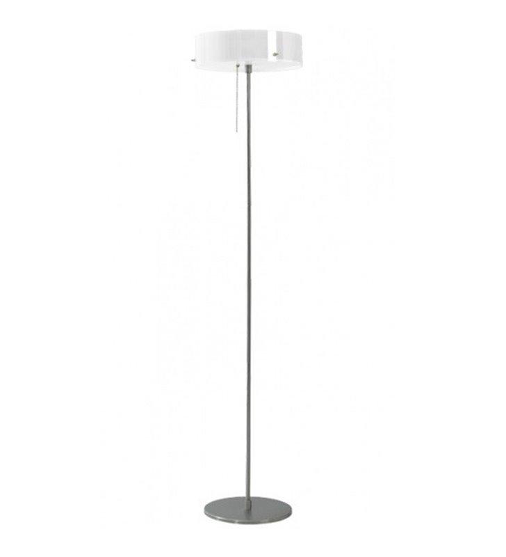Lampa podłogowa Lima klosz szklany opal błysk