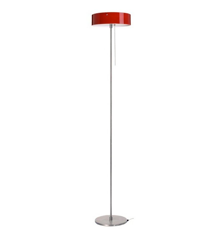 Lampa podłogowa Lima klosz okrągły szklany bordowy błyszczący