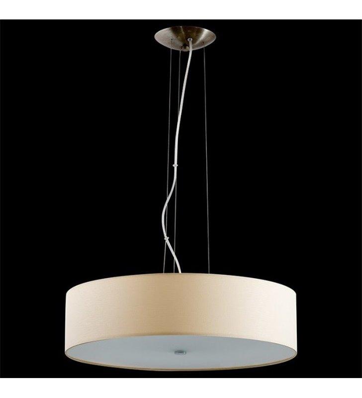 Lampa wisząca Tonga okrągły abażur ecru
