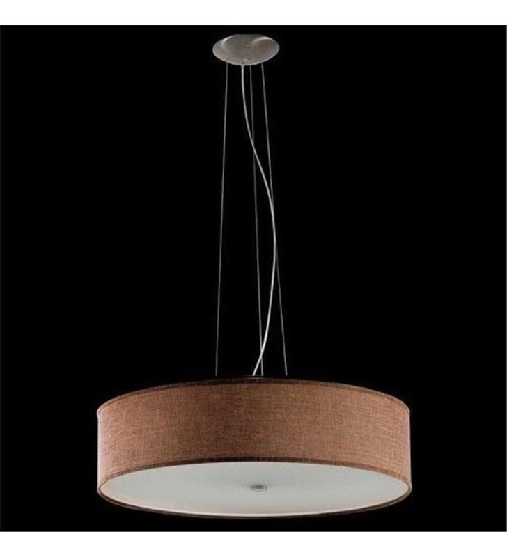 Lampa wisząca Tonga okrągły abażur brązowa