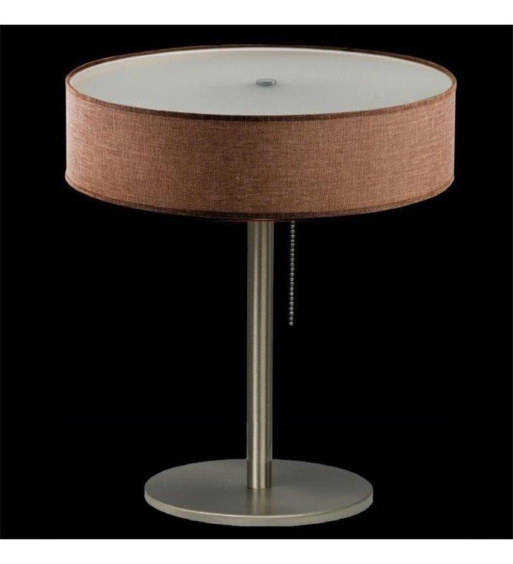 Lampa stołowa Tonga brązowa z włącznikiem przy kloszu