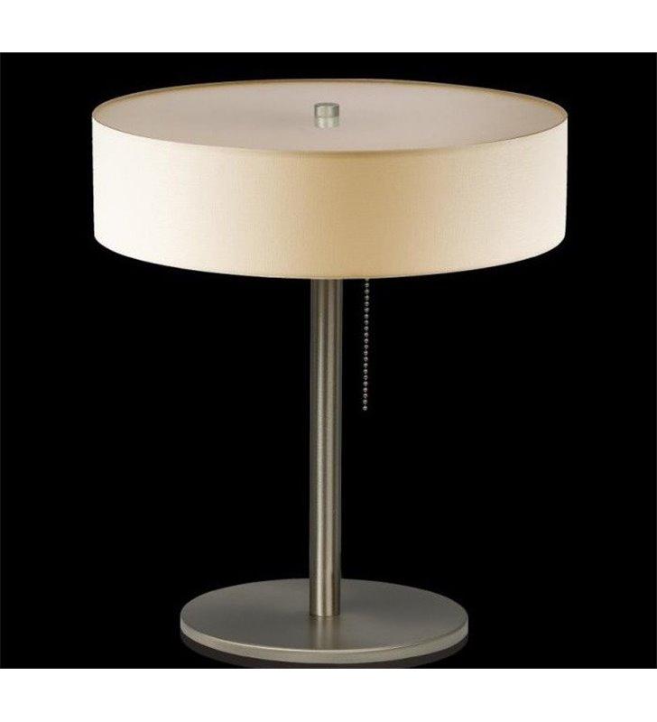 Lampa stołowa Tonga ecru z włącznikiem przy kloszu