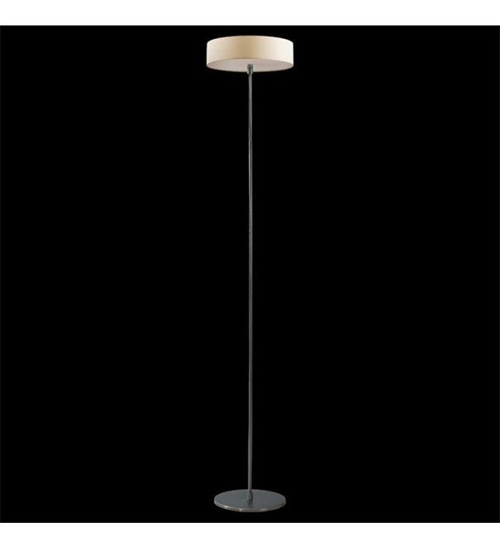 Lampa podłogowa Tonga klosz okrągły ecru włącznik przy kloszu