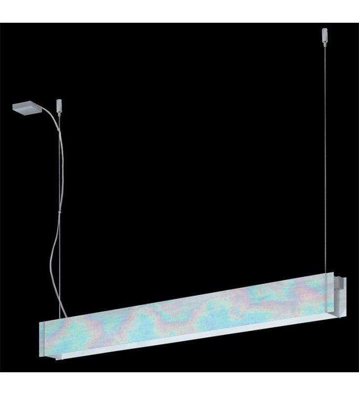 Lampa wisząca Traverso-2 podłużna tęczowe szkło witrażowe