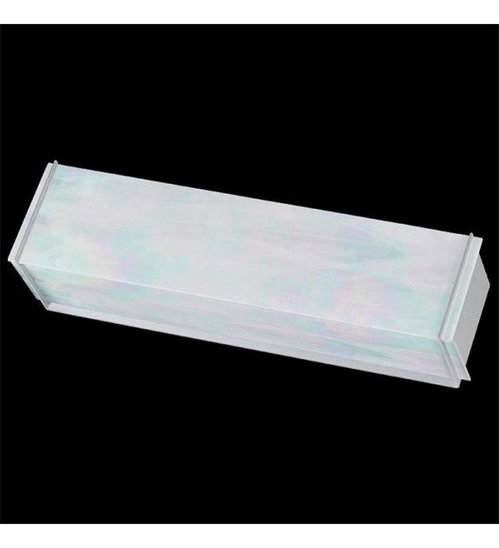 Kinkiet Traverso-2 podłużny klosz tęczowe szkło witrażowe