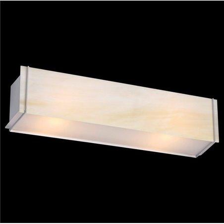 Kinkiet Traverso-5 kremowy szklany podłużny