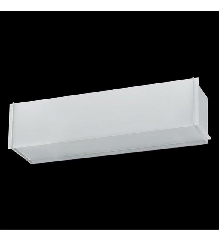 Kinkiet Traverso-8 podłużny szkło białe piaskowane