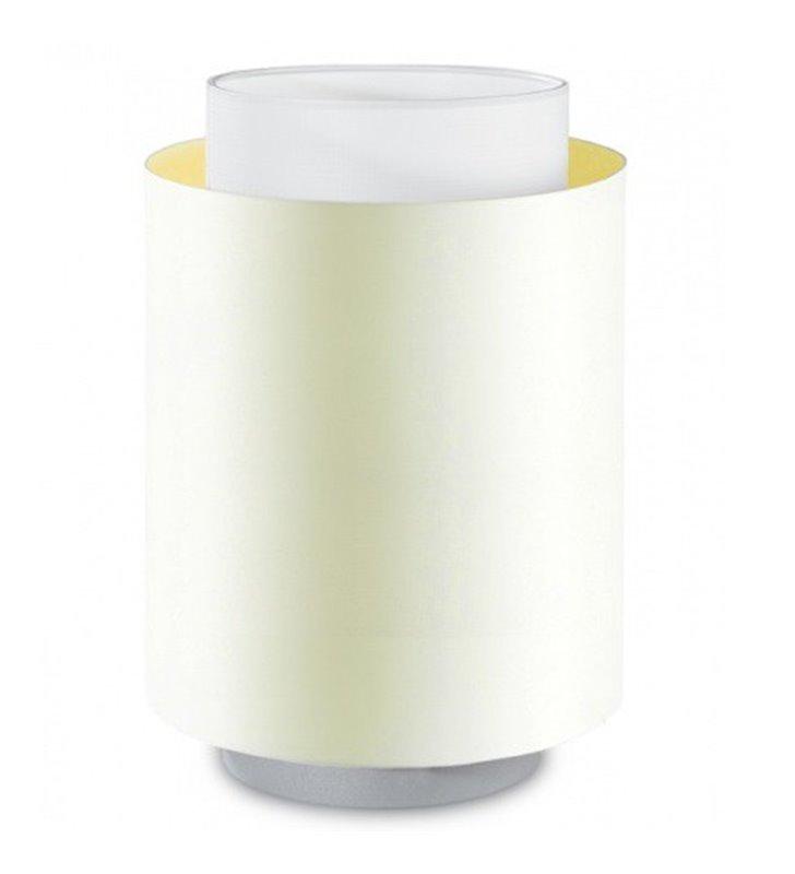 Mała lampa stołowa Net połączenie białego abażura z ecru