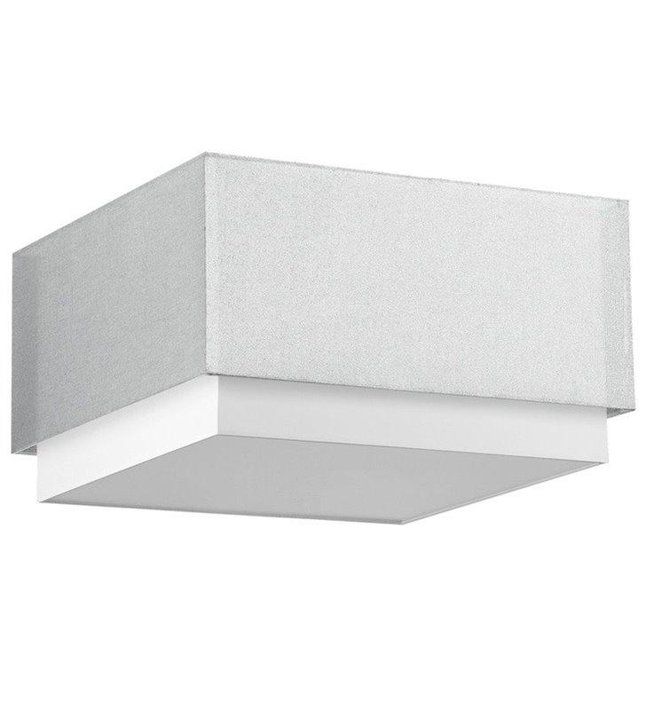 Plafon Lastra 450 srebrno biały kwadratowy