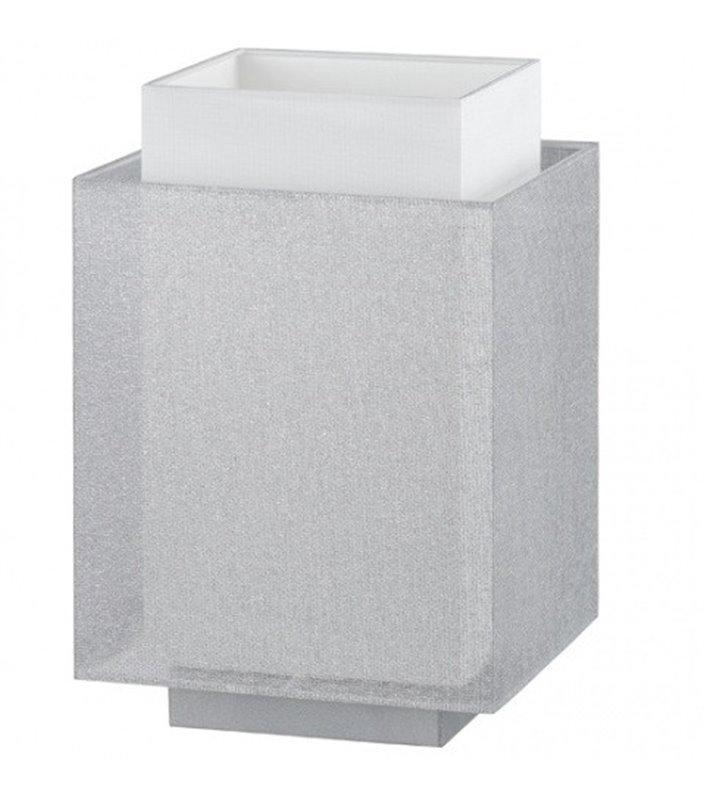 Lampa stołowa Lastra mała biało srebrna