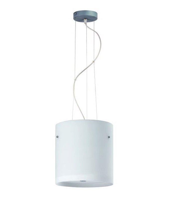 Lampa wisząca Pub klosz szklany okrągły wysoki opal mat
