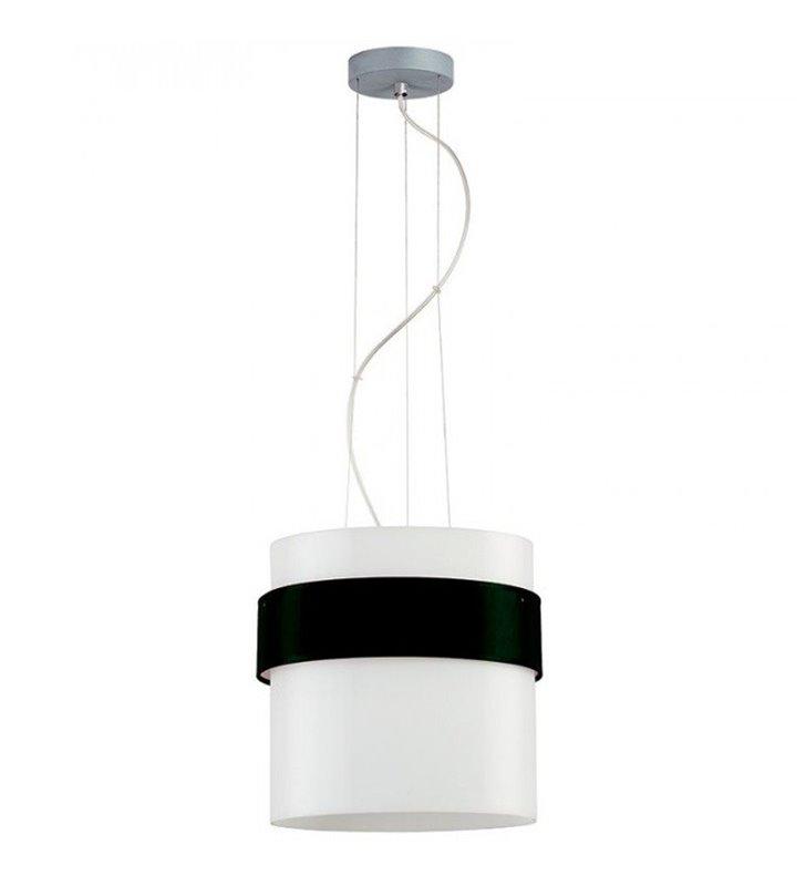 Lampa wisząca Pub Szkło z opaską czarny mat