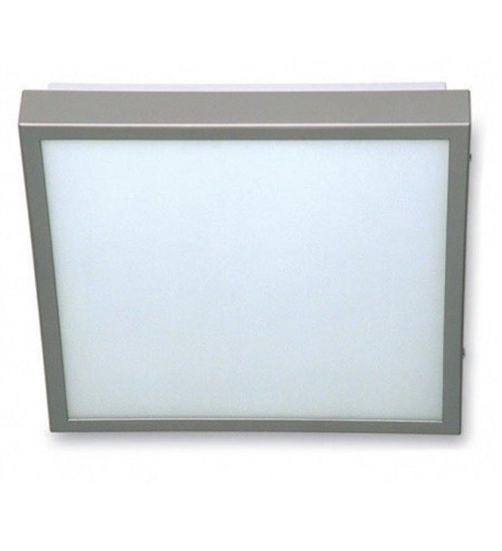 Plafon Okno 400 kwadratowy nikiel satynowany