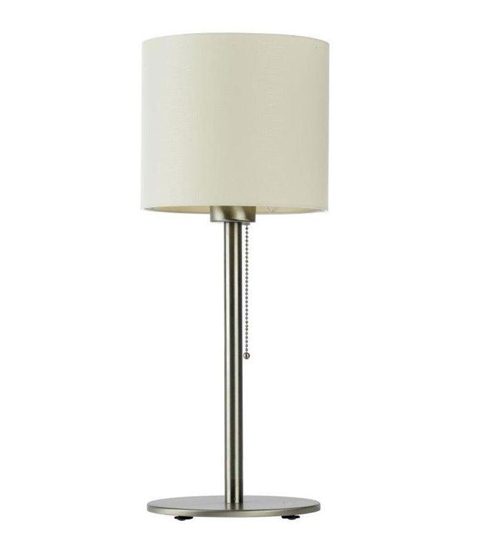 Lampa stołowa Bach abażur ecru włącznik przy kloszu