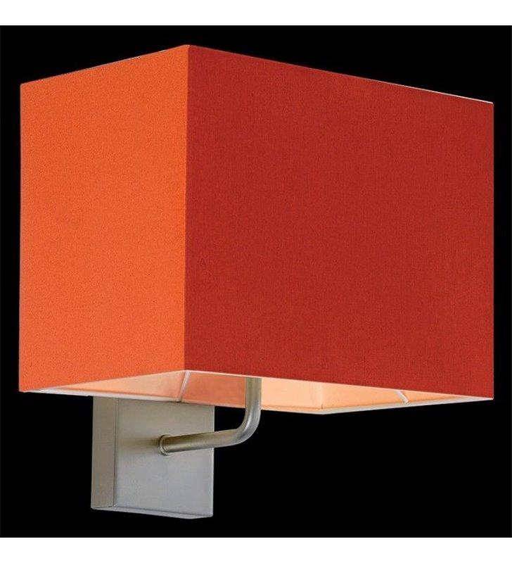 Kinkiet Calipso pomarańczowy prostokątny abażur