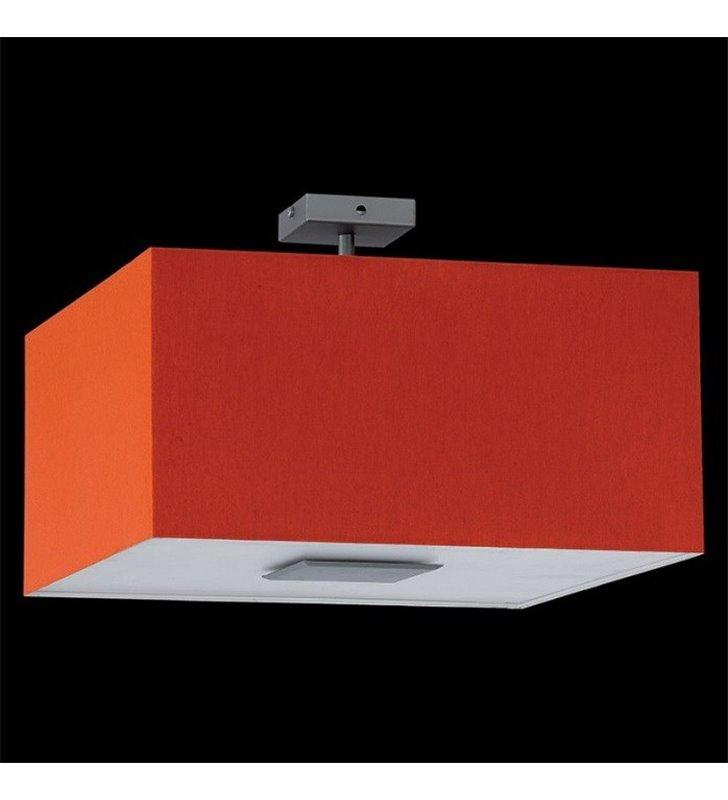 Plafon Calipso 400 kwadratowy pomarańczowy abażur