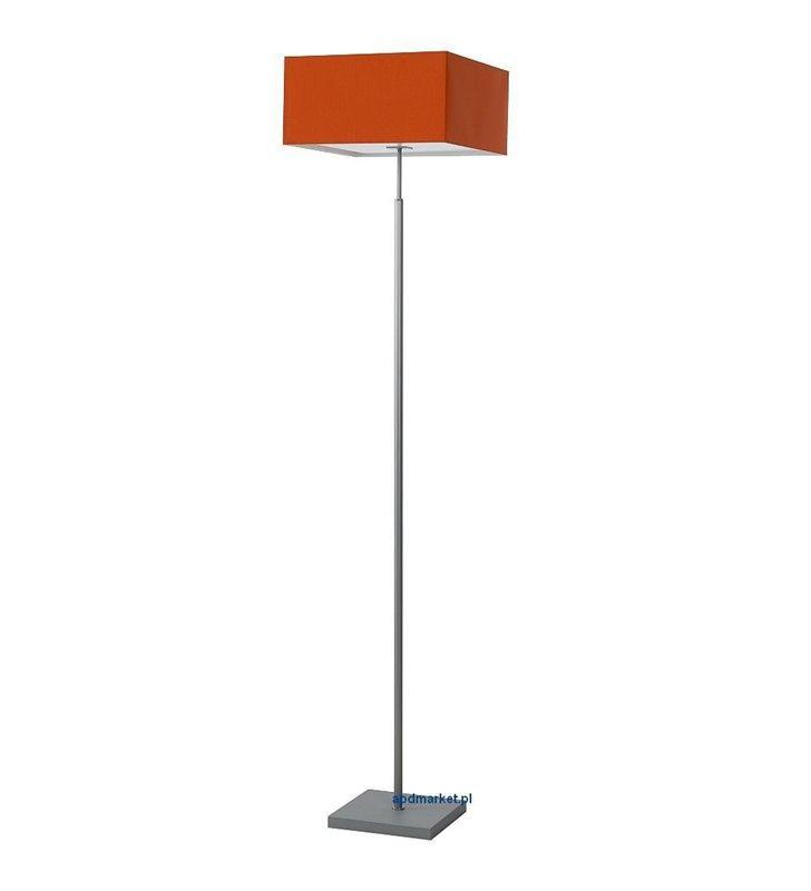 Lampa podłogowa Calipso pomarańczowa z kwadratowym materiałowym abażurem